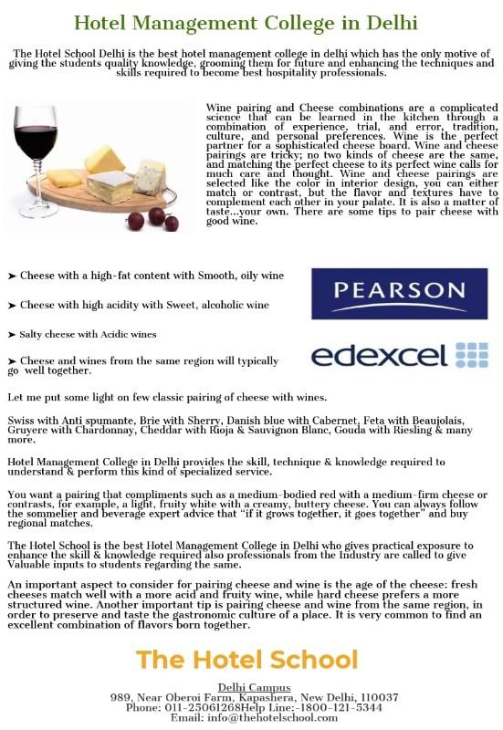 Hotel-Management-College-in-Delhi-Cheese-Wine